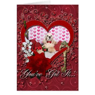 Cartão Dia dos namorados - Tobey - cocker spaniel