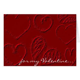 Cartão Dia dos namorados vermelho personalizado dos