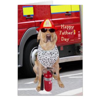 Cartão Dia dos pais bonito/engraçado do cão para o