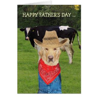 Cartão Dia dos pais customizável engraçado para o