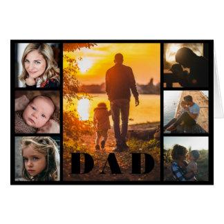 Cartão Dia dos pais da colagem da foto do pai