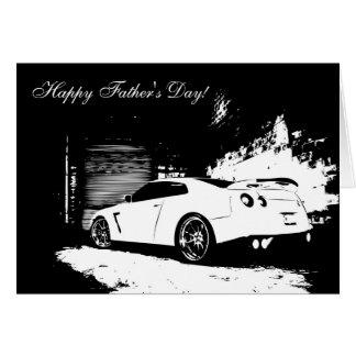 Cartão Dia dos pais de GT-r da skyline de Nissan