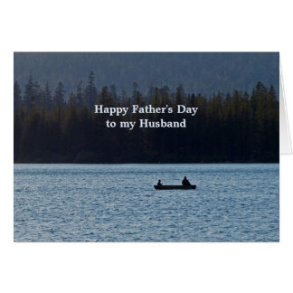 Cartão Dia dos pais do barco de pesca para o marido