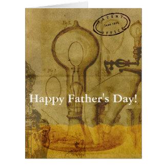 Cartão Dia dos pais do excelente da ampola de Steampunk