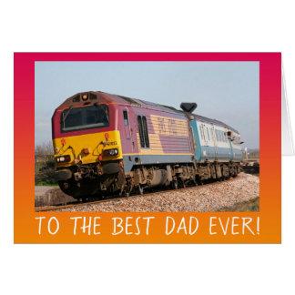 Cartão Dia dos pais do motor diesel do vintage