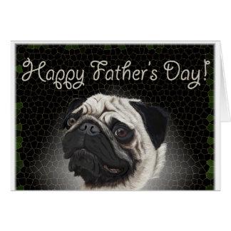 Cartão dia dos pais do pug