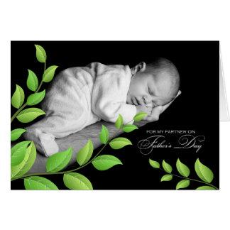 Cartão Dia dos pais do sócio da vida recém-nascido