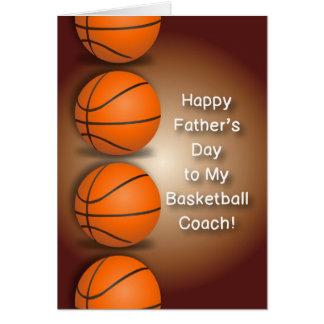 Cartão Dia dos pais do treinador de beisebol