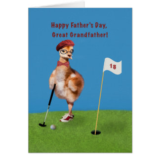 Cartão Dia dos pais, excelente - avô, pássaro que joga o