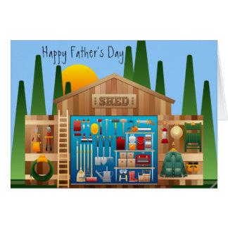 """Cartão Dia dos pais feliz """"a ferramenta a mais afiada na"""