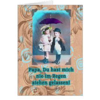 Cartão dia dos pais feliz alemão de Vatertag do zum do