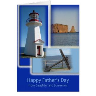 Cartão Dia dos pais feliz - da filha e do genro