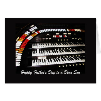 Cartão Dia dos pais feliz do órgão antigo ao padrinho