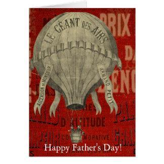 Cartão Dia dos pais feliz do passeio do Ballon do ar