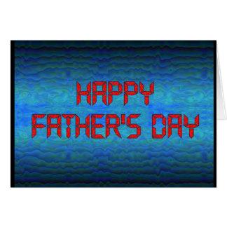 Cartão Dia dos pais feliz - geek do computador