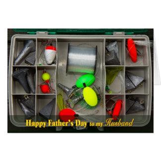 Cartão Dia dos pais - marido - caixa de equipamento de