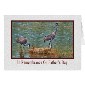 Cartão Dia dos pais, na relembrança, guindastes de