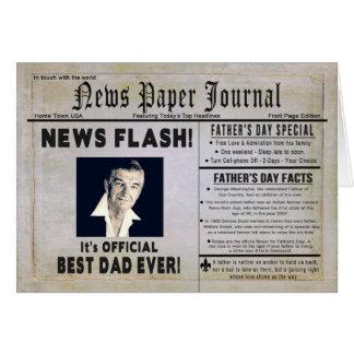 Cartão Dia dos pais - pai - jornal da notícia - inserção