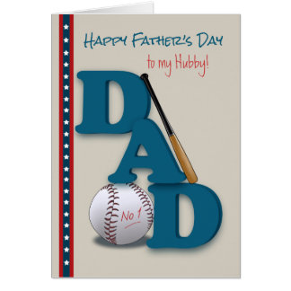 Cartão Dia dos pais para o pai do tema No.1 do basebol do
