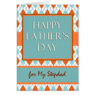 Cartão Dia dos pais para o Stepdad, design geométrico de