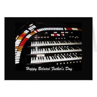Cartão Dia dos pais tardivo feliz do órgão antigo