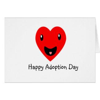 Cartão Dia feliz 7,8 da adopção