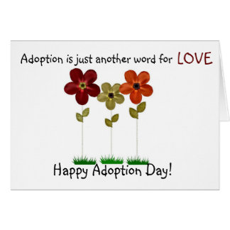 Cartão dia feliz da adopção
