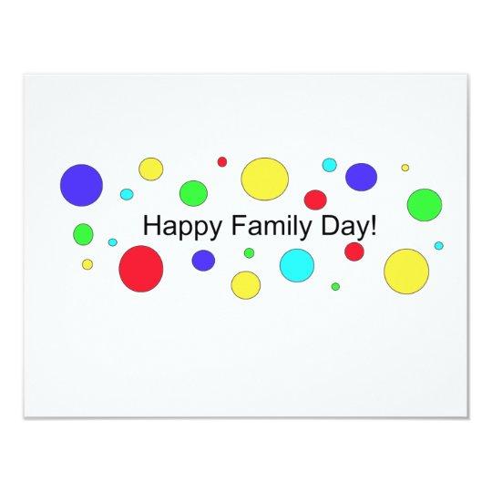 Cartão Dia feliz da família!