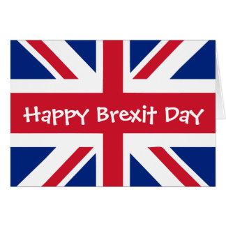 Cartão Dia feliz de Brexit - 29 de março