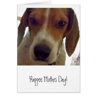 Cartão Dia feliz de Mothrs!