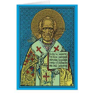 Cartão Dia feliz de São Nicolau!