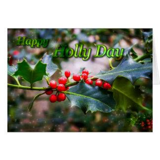 Cartão Dia feliz do azevinho
