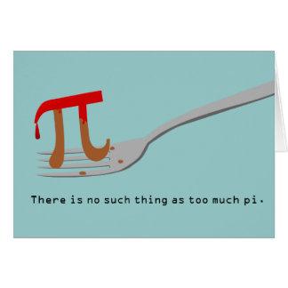 Cartão Dia feliz do Pi