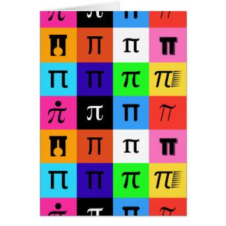 Cartão dia feliz do pi do colorblock