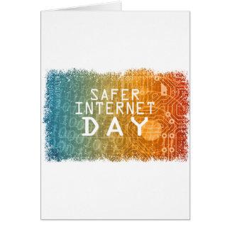 Cartão Dia mais seguro do Internet - dia da apreciação