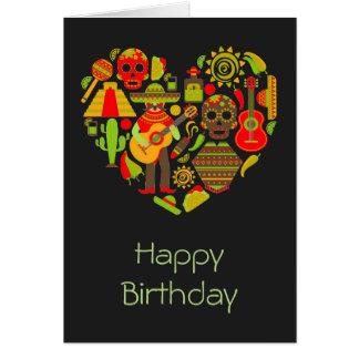 Cartão Dia mexicano do aniversário inoperante de México