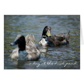 """Cartão """"dia na lagoa do pato."""" Saint Louis da baía que"""