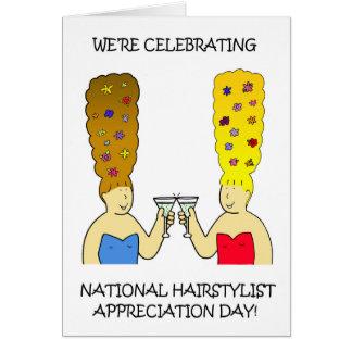 Cartão Dia nacional da apreciação do Hairstylist
