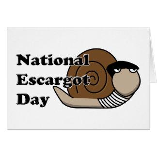 Cartão Dia nacional de Escargot