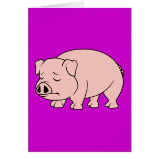 Cartão Dia nacional Weeping de grito do porco do leitão