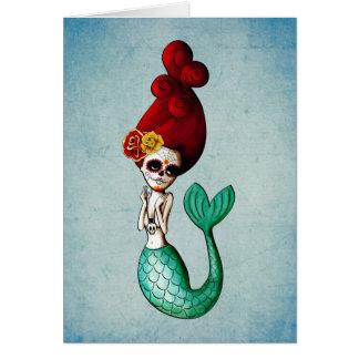 Cartão Dia náutico da sereia inoperante