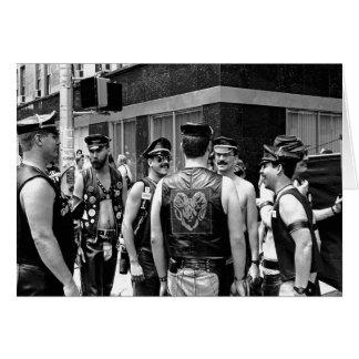 Cartão Dia NYC do orgulho gay. 1989