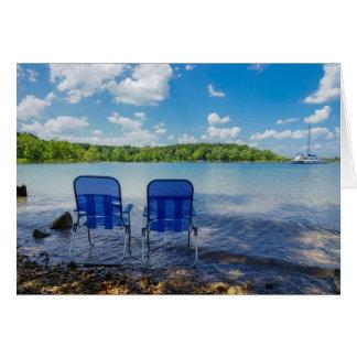 Cartão Dia perfeito no lago