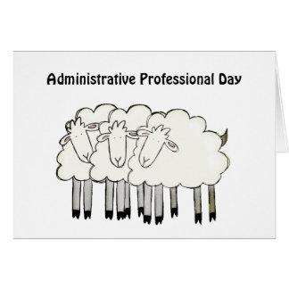 Cartão Dia profissional administrativo - obrigados