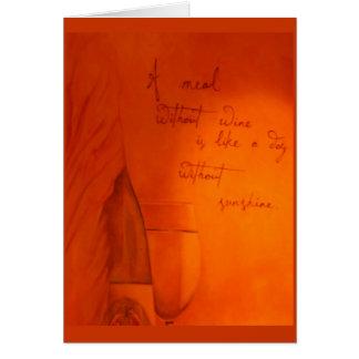 Cartão Dia sem notecard do vinho…