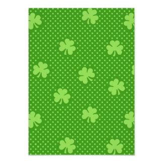 Cartão Dia verde de Patricks do santo do teste padrão do