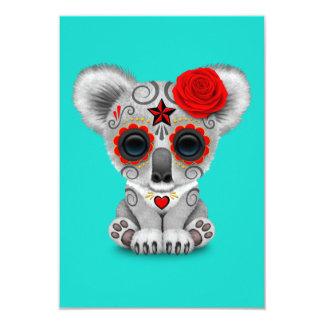 Cartão Dia vermelho do Koala inoperante do bebê