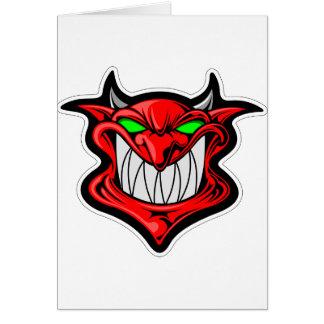 Cartão Diabo dos desenhos animados