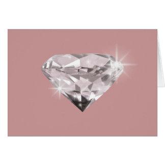 Cartão Diamante do brilho