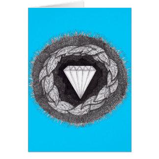 Cartão Diamante formado sob a grande pressão